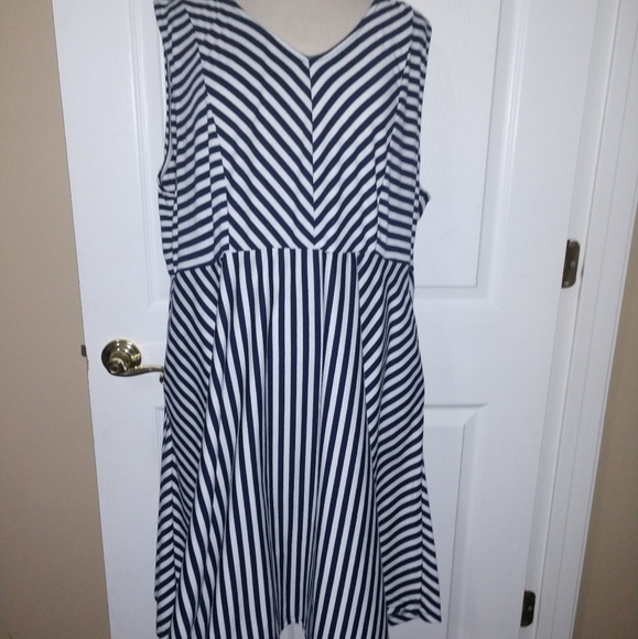 6e84b8936 Lane Bryant Dresses | Size 22 3x Blue White Striped Dress | Poshmark